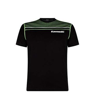 Kawasaki T-SHIRT KIDS SPORTS BLACK / GREEN