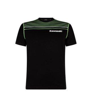Kawasaki T-SHIRT MALE SPORTS BLACK / GREEN