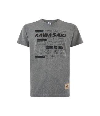 Kawasaki T-SHIRT MALE GREY