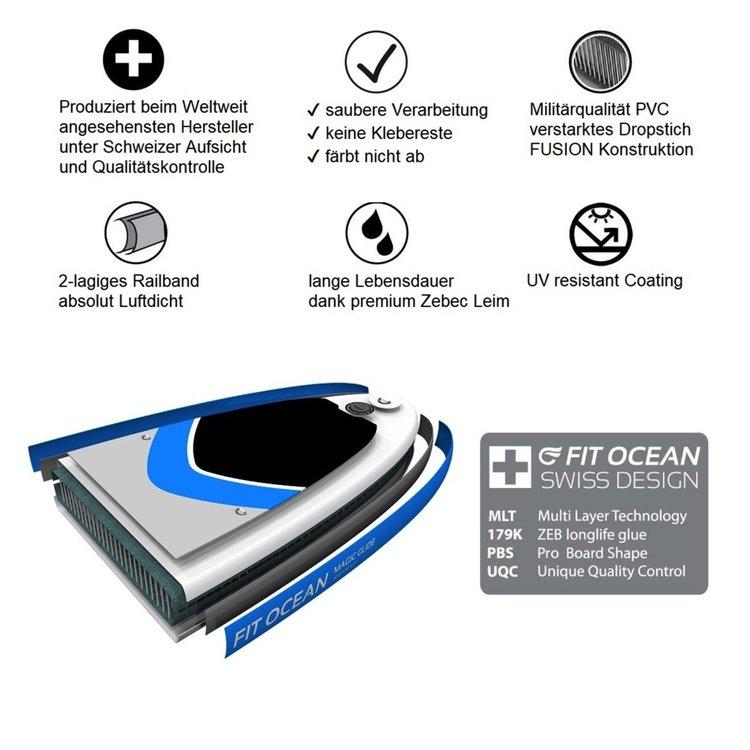 Fit Ocean Fit Ocean Magic Glide SUP Aqua 10'8 Set