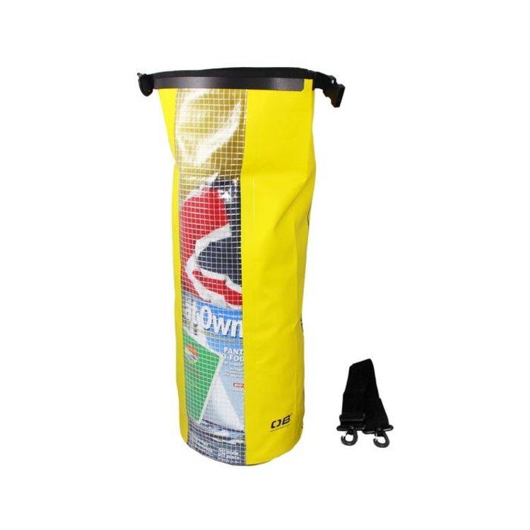 Overboard Overboard Dry tube met raampje 20 liter geel