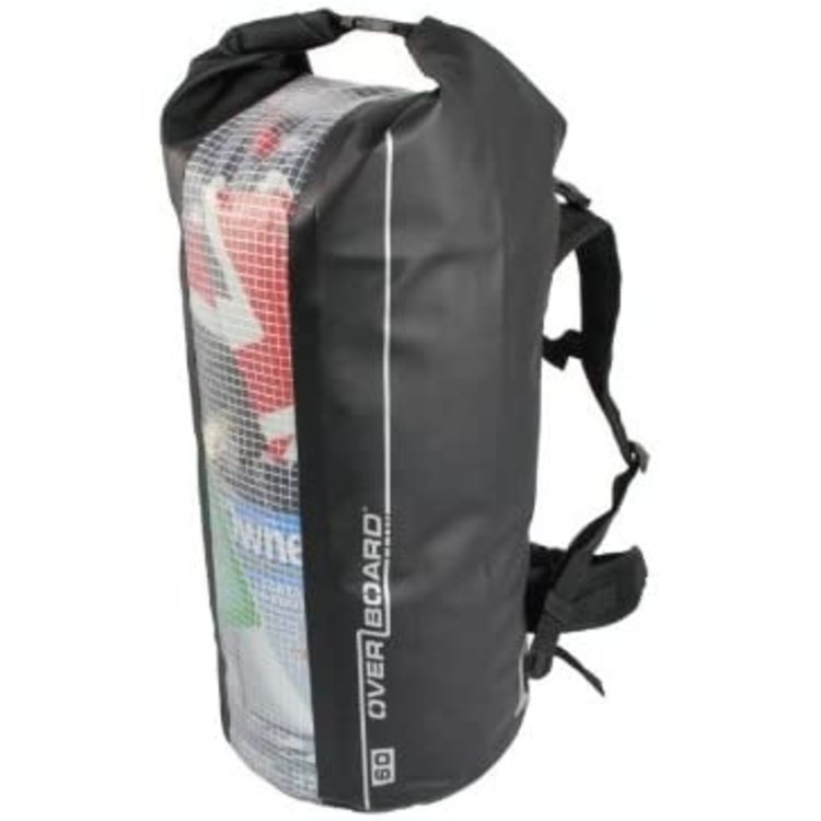 Overboard Overboard Backpack drytube with window 60L zwart