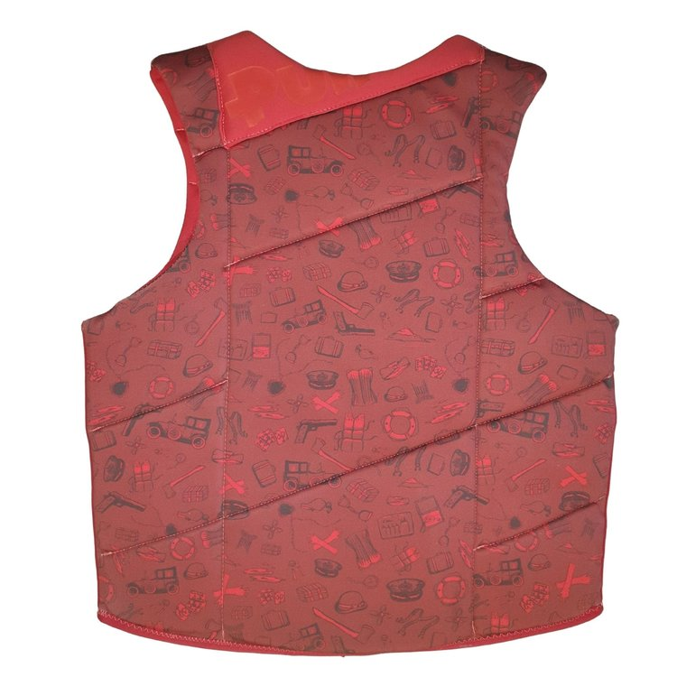 Pull Pull Scallywag Red Front-Zip impact vest