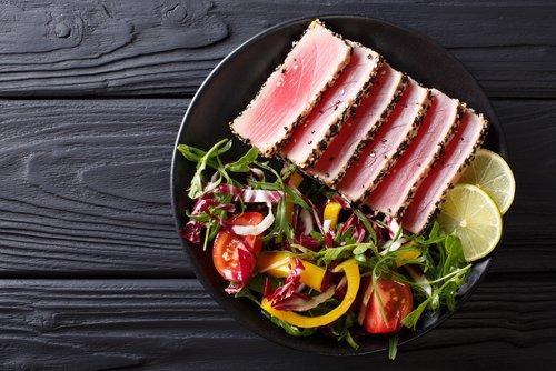 De Jager Yellow fin tonijn met vel 500 gr