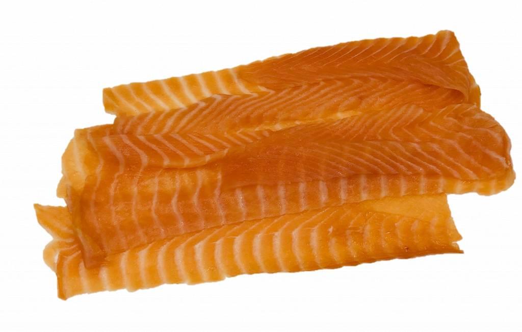 Verbiest Gerookte Noorse zalm lange sneden 500 gr