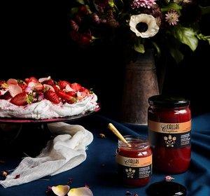 Aardbei -rozenblaadjes  218gr