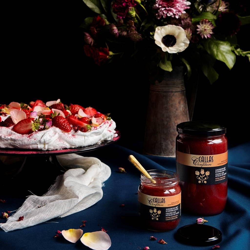 Aardbei -rozenblaadjes  250 gr