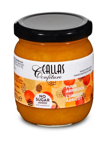 Callas Confiture Puur Abrikoos no sugar added  218 gr