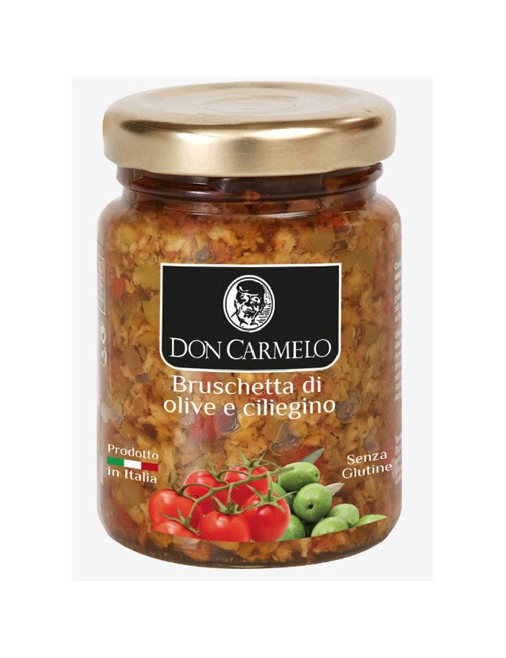 Don Carmelo Bruschetta di Olive e Ciliegino 100gr