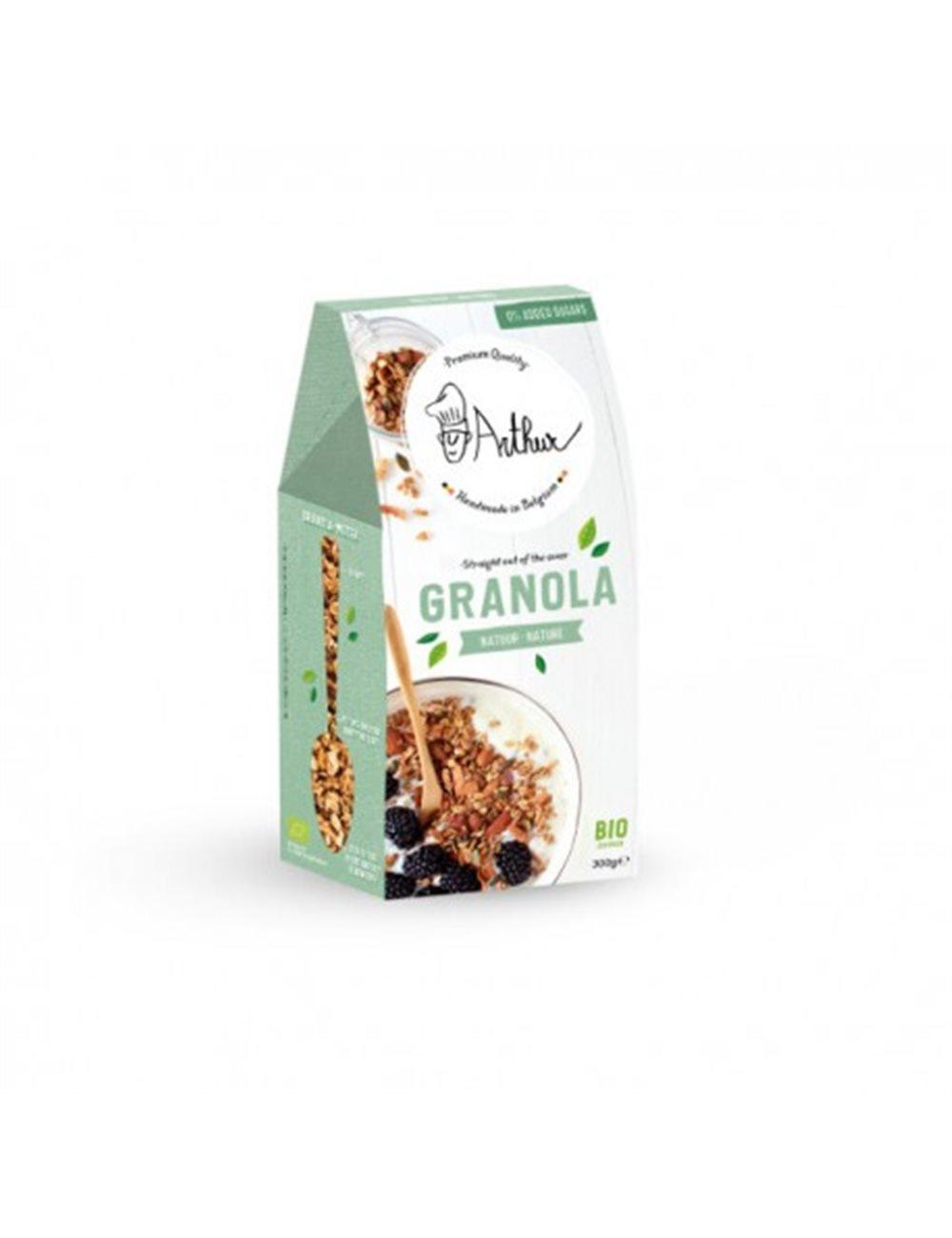 Arthur's Mix Granola Puur Natuur BIO 0% toegevoegde suikers
