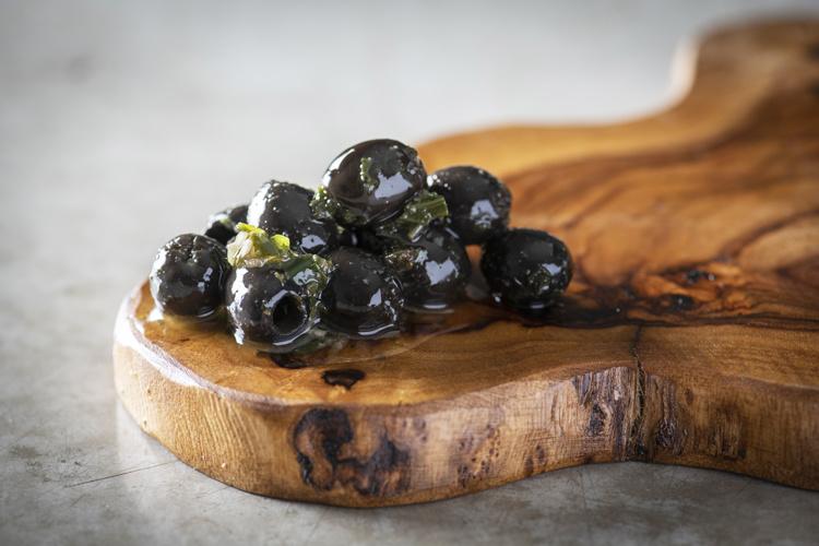 De Laet & Van Haver Zwarte olijven met look