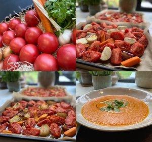 Zuiderse Soep met Geroosterde Tomaten