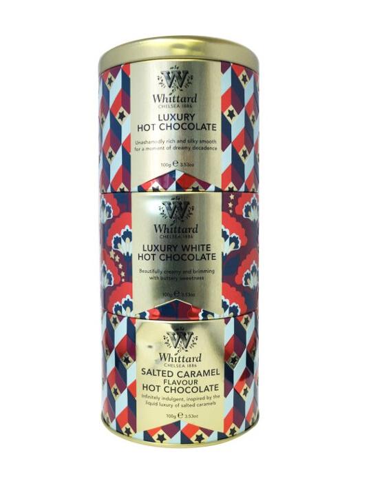 Whittard & Chelsea Kerst Giftset Gestapelde Hot Chocolate Blikken