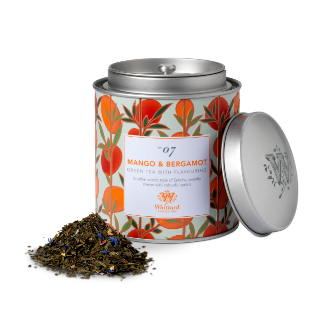 Whittard & Chelsea Tea Discoveries Mango & Bergamot Caddy 100gr