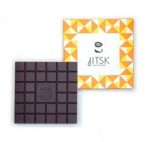 Tablet Pure Chocolade  Met karamel en zeezout.
