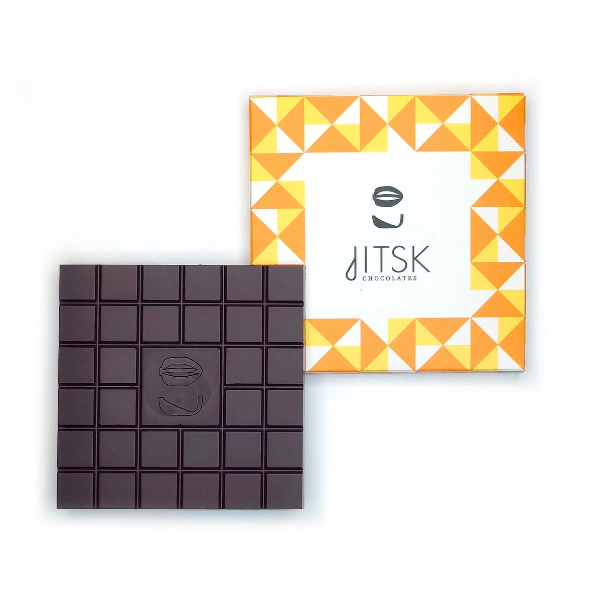 jitsk Tablet Pure Chocolade  Met karamel en zeezout.