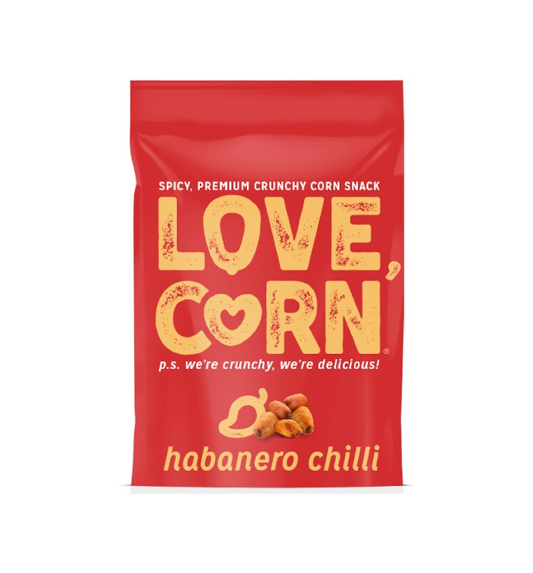 Love Corn Krokante Maissnack met Habanero Chilli