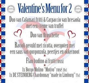 Peppe's Valentijnsmenu voor 2 personen