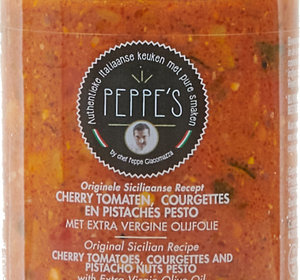 Cherry Tomate, Courgettes, en Pistaches Pesto 200gr