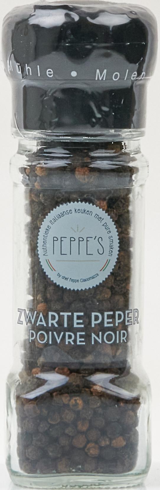 Peppe's Zwarte Peper Molen 50gr