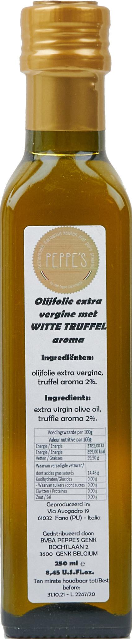 Peppe's Olijfolie met Witte Truffel 250ml