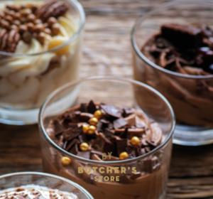 Crème brulée met chocolademousse