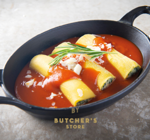 Cannelloni met tomatensaus en parmazaan