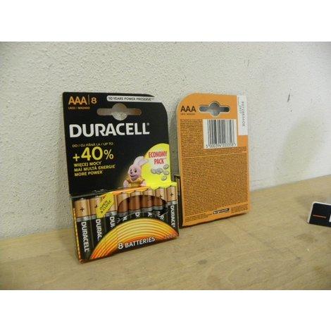 Duracell Duralock - 8 Pack AAA Batterijen   LR03   Nieuw