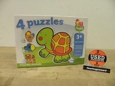 4 Puzzels Friendly Animals | 2, 3 en 4 Stukjes |  Nieuw In Doos