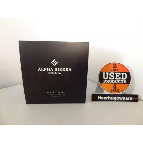 Alpha Sierra LGM 30BL Heren Horloge   Nieuw in Doos