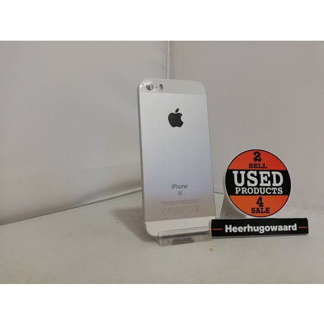 iPhone SE 16GB Silver incl. Lader in Goede Staat