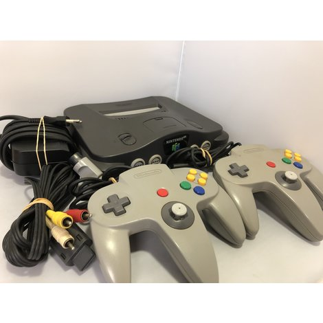 Nintendo 64 Console Compleet incl. 2 Controllers in Goede Staat
