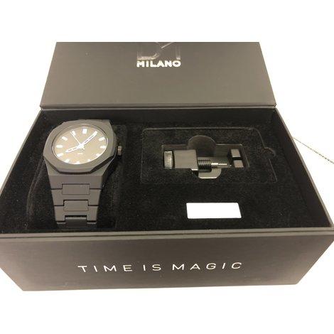 D1 Milano Neon Horloge Zwart Unisex Nieuw in Doos
