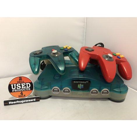 Nintendo 64 Console Groen incl. 2 Controllers en Kabels
