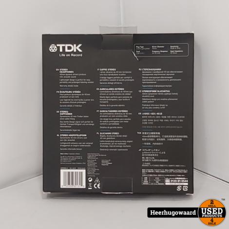 TDK ST100 Koptelefoon Zwart Nieuw
