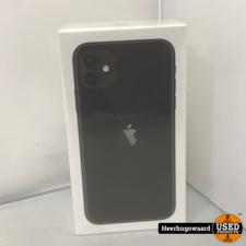 iPhone 11 64GB Black Nieuw in Seal met Bon