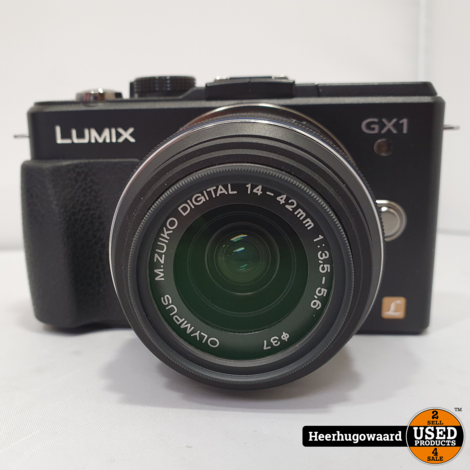 Panasonic Lumix DMC-GX1 + 14-42mm F3.5-5.6 Zwart Compleet