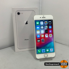 iPhone 8 256GB Silver Compleet in Goede Staat