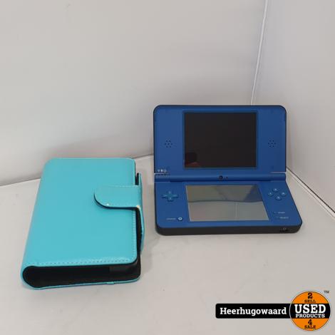 Nintendo DSi XL Blauw incl. Hoes en Lader in Nette Staat