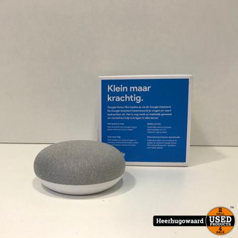 Google Home Mini Speaker Wit in Doos in Nette Staat