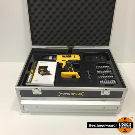 Powerplus POWX0026LI Schroefboormachine Set in Goede Staat