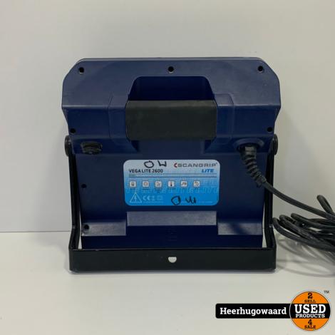 ScanGrip Vega Lite 2600 Bouwlamp in Goede Staat