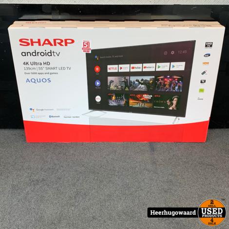 Sharp 55BL2EA 55'' 4K Ultra HD Smart TV Nieuw in Doos