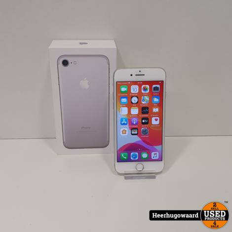 iPhone 7 32GB Silver in Doos in Nette Staat - Accu 100%