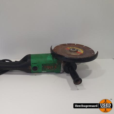 Hitachi Haakse Slijper G23SW2 2200 Watt Groen
