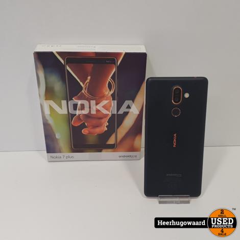 Nokia 7 Plus 64GB Black Compleet in Nette Staat