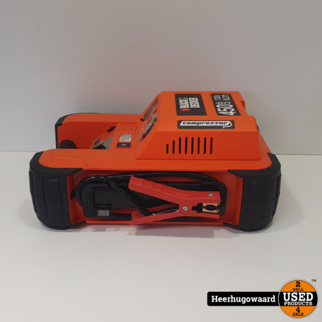Black & Decker Compressor + Kickstarter BDJS450I Excl. lader in Nette Staat