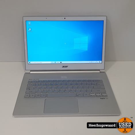 Acer Aspire S7 13,3'' Laptop Wit - Touchscreen i7-4500U 8GB 128GB