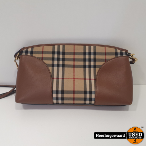 Burberry 3992857 Horseferry Check Honey/Tan Handtas in Nette Staat