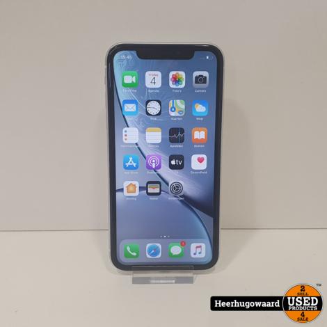 iPhone XR 64GB White in Zeer Nette Staat - Accu 93%